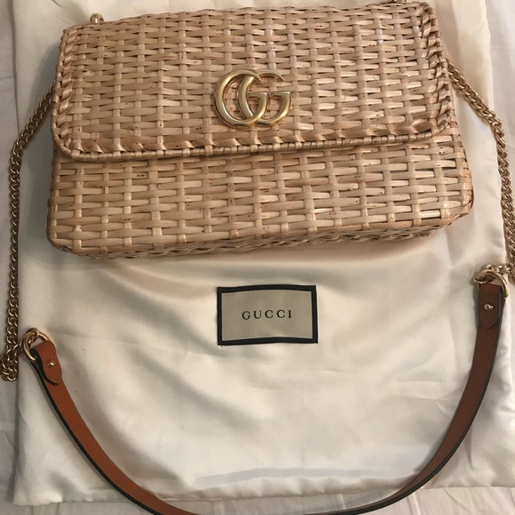 bab3b5082 Gucci Bags | New Wicker Small Shoulder Bag | Poshmark